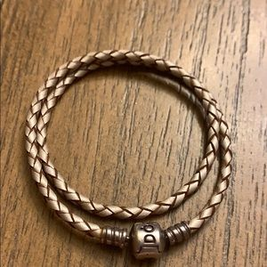 Pandora braided leather bracelet